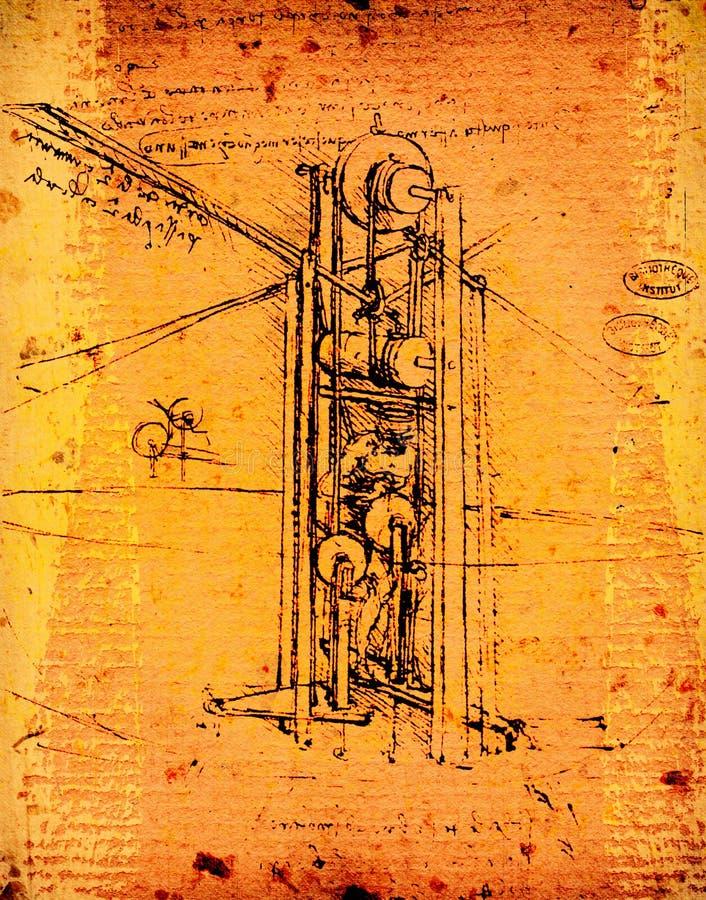 Leonardo的工程学 免版税库存图片