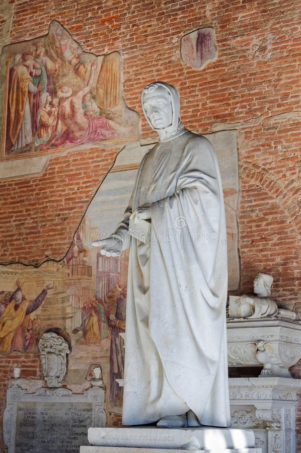 Leonardo Фибоначчи - Пиза стоковые изображения
