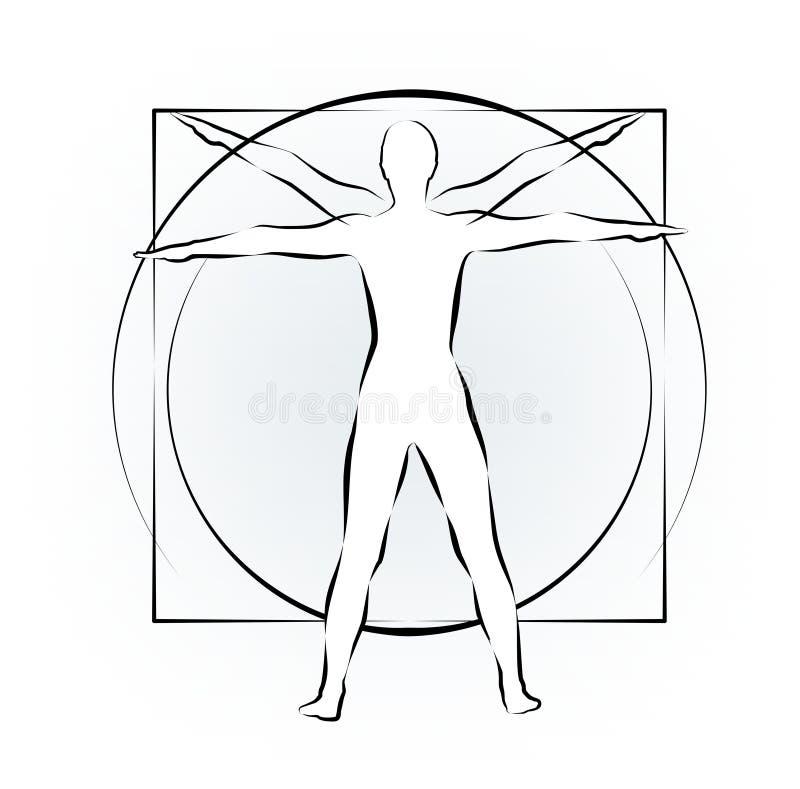 Leonardo ciała nauka ilustracji