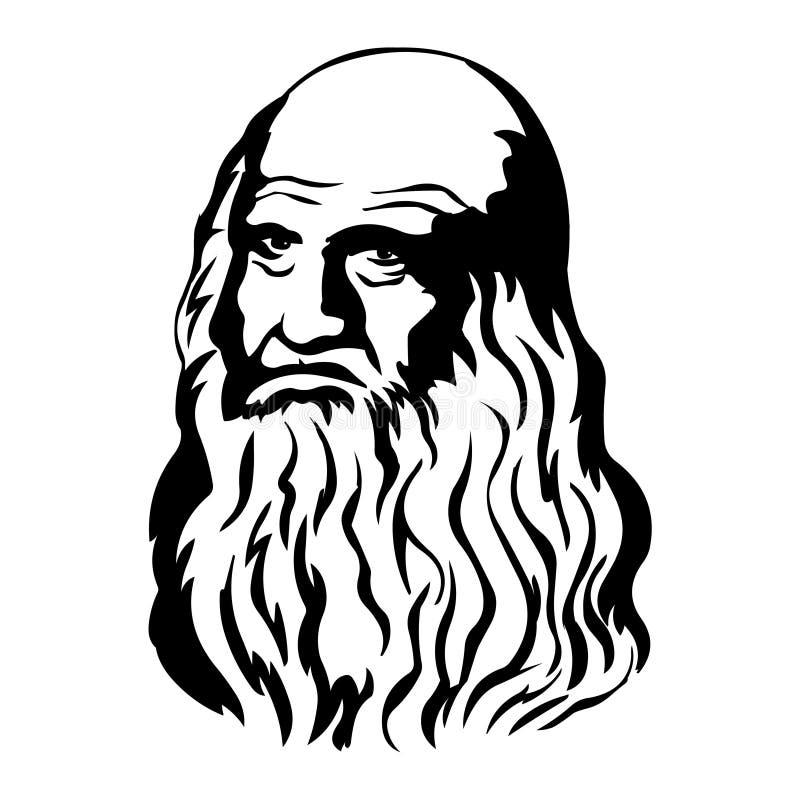 Leonardo Da Vinci 马克・吐温传染媒介画象  皇族释放例证
