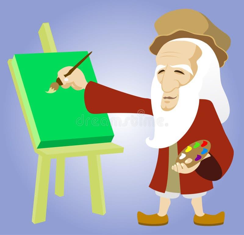 Leonardo da Vinci vector illustratie