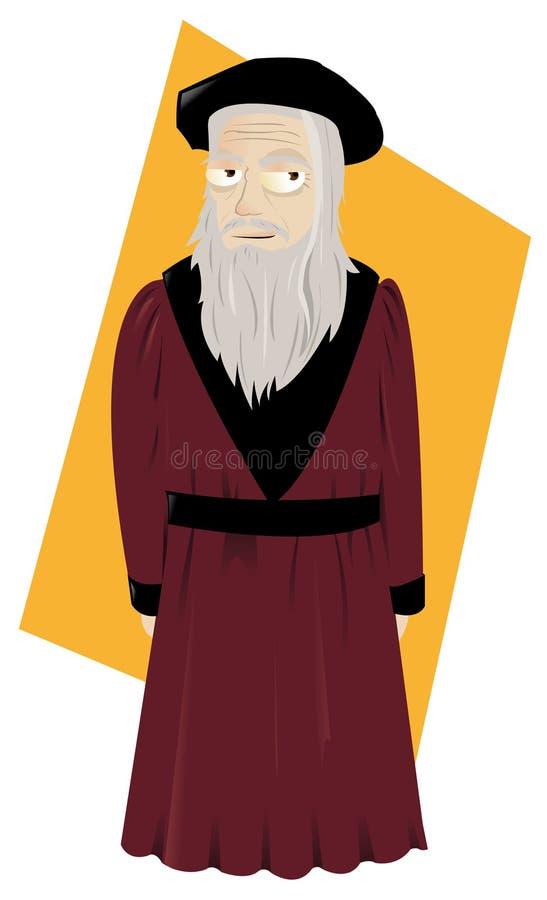 Leonardo da vinci ilustração do vetor de italy
