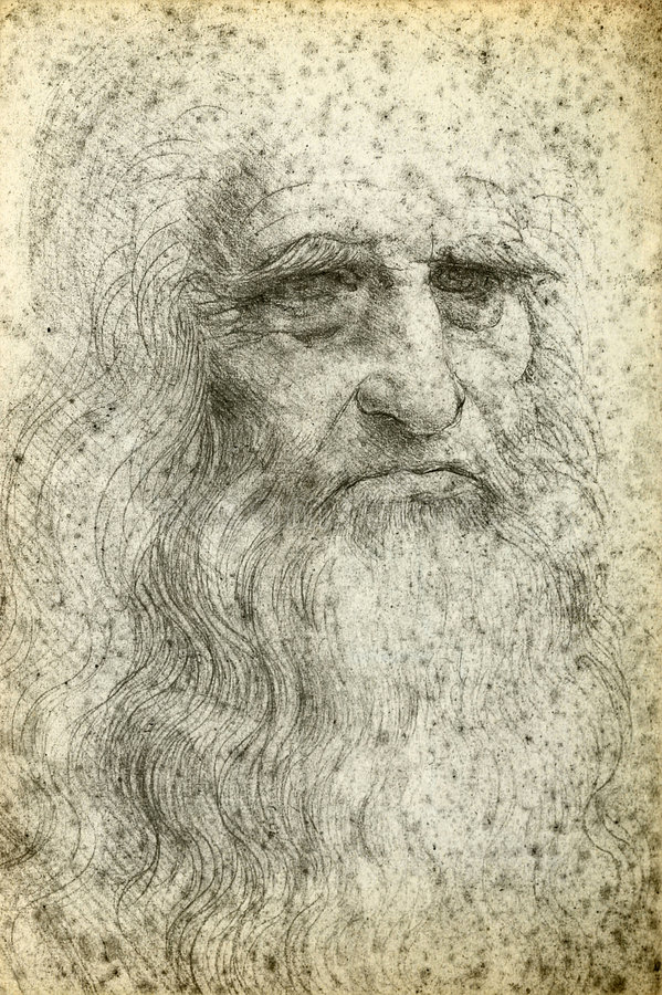 Leonardo Da Vinci ilustración del vector