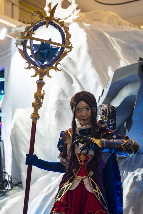 Leonardo Da Vinci cosplayer στη Sony EXPO 2019 στοκ εικόνα