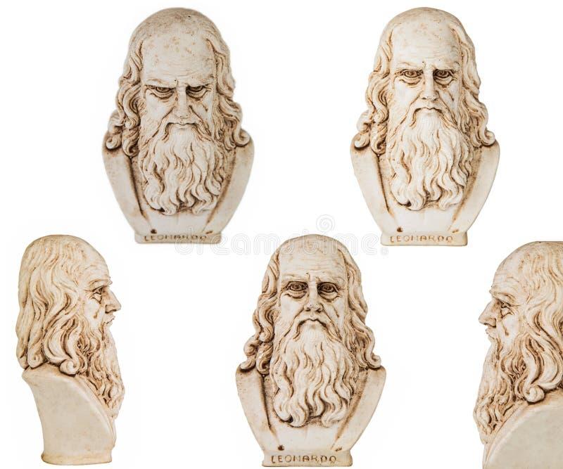 Leonardo da Vinci geïsoleerde inzameling stock fotografie