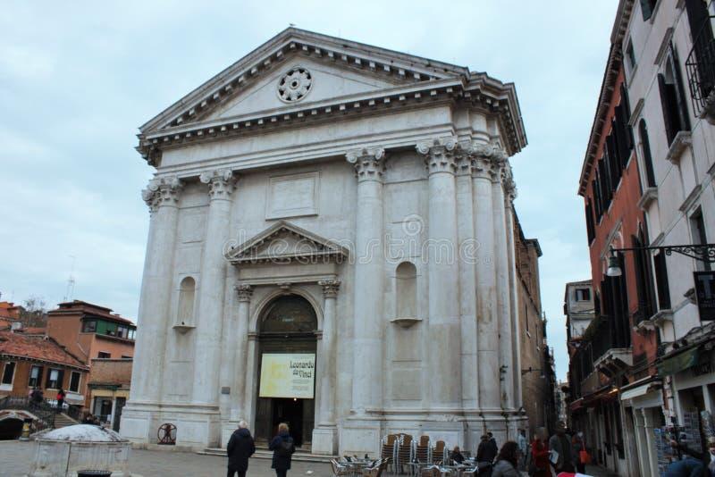 Leonardo da Vinci Museum, Venedig, i Scolettaen di San Rocco arkivfoto
