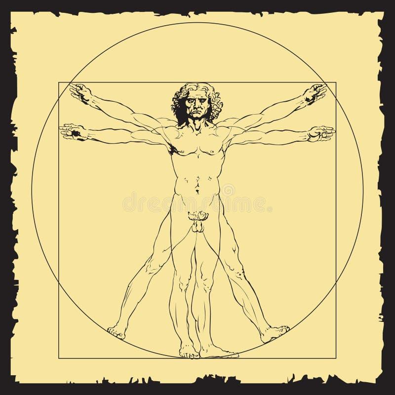 Leonardo da Vinci `s trekt vector illustratie