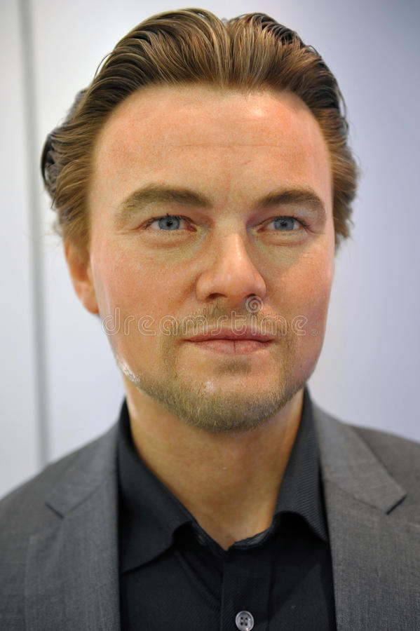 Leonardo DiCaprio蜡象  图库摄影