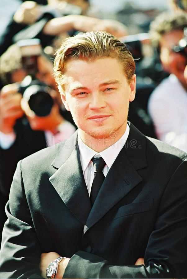 Leonardo DiCaprio. CANNES, FRANCE - MAY 20: Leonardo DiCaprio attends the photo call 'Gangs of New York' during the 55th Cannes film festival, May 20, 2002 in royalty free stock images