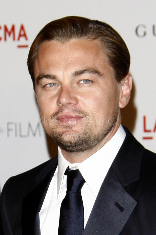Leonardo DiCaprio. LOS ANGELES - NOV 5: Leonardo DiCaprio arrives at the LACMA Art + Film Gala at LA County Museum of Art on November 5, 2011 in Los Angeles, CA stock images