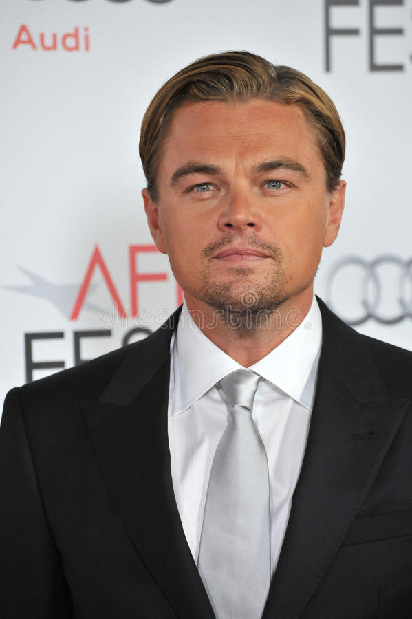 Leonardo DiCaprio. At the world premiere of his new movie J. Edgar, the opening film of the AFI FEST 2011, at Grauman's Chinese Theatre, Hollywood. November 3 royalty free stock photo