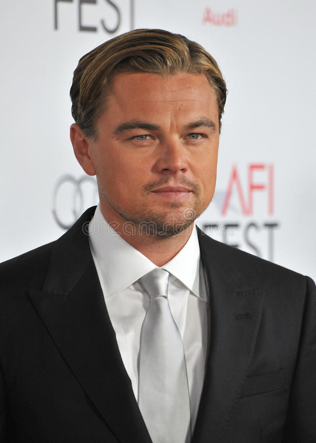Leonardo DiCaprio. At the world premiere of his new movie J. Edgar, the opening film of the AFI FEST 2011, at Grauman's Chinese Theatre, Hollywood. November 3 stock photography