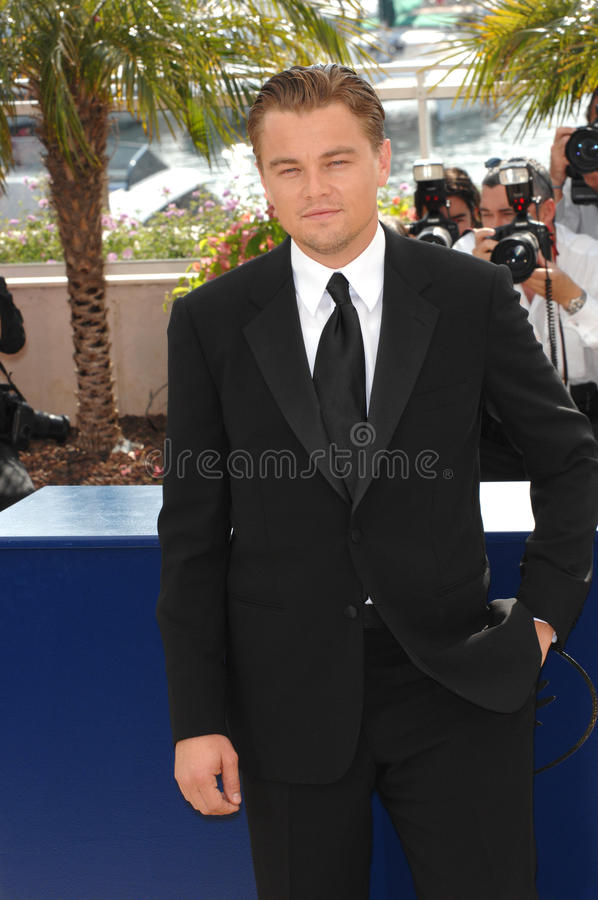Leonardo DiCaprio. At photocall for his movie The 11th Hour at the 60th Annual International Film Festival de Cannes. May 19, 2007 Cannes, France. 2007 Paul royalty free stock image