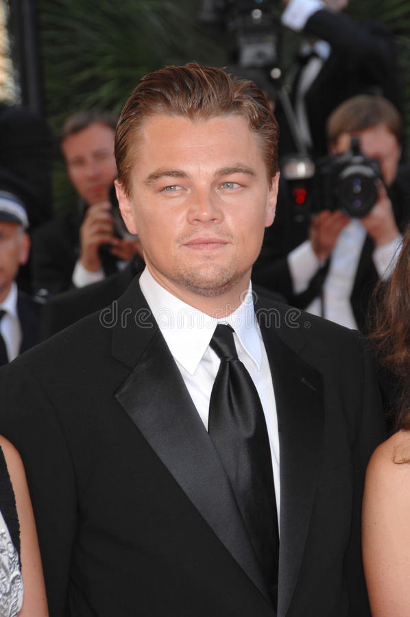 Leonardo DiCaprio. At screening for No Country for Old Men at the 60th Annual International Film Festival de Cannes. May 19, 2007 Cannes, France. 2007 Paul royalty free stock photos