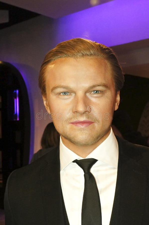Leonardo DiCaprio. Picture of Leonardo DiCaprio wax model at Madam Tussauds Museum stock image