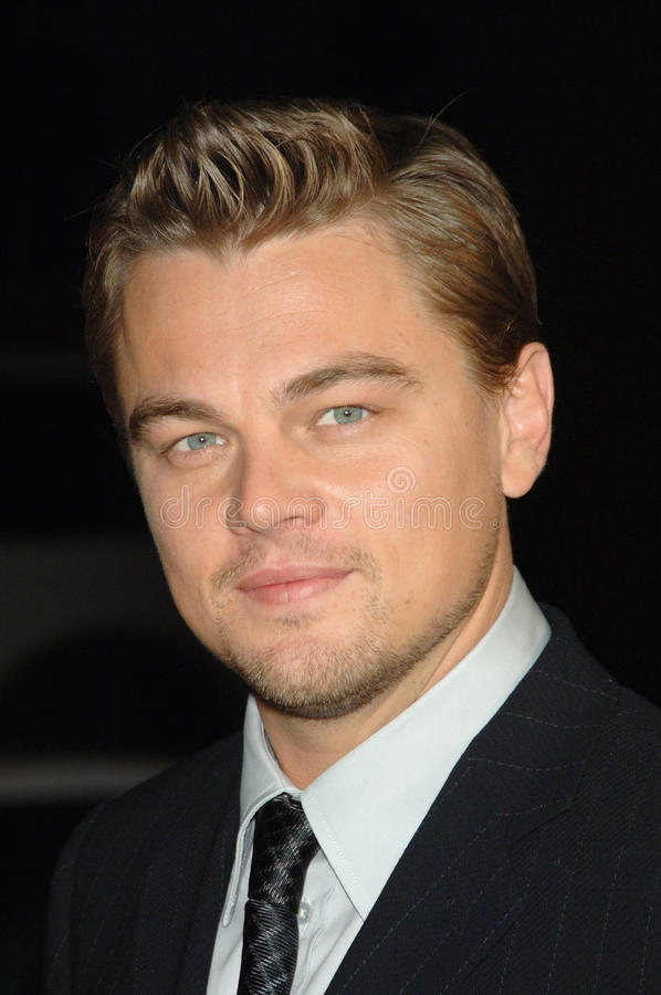 Leonardo DiCaprio. At the Los Angeles premiere of his new movie Blood Diamond at Grauman's Chinese Theatre, Hollywood. December 6, 2006 Los Angeles, CA Picture royalty free stock photos