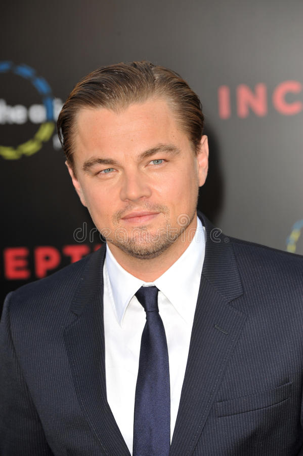 Leonardo DiCaprio. At the Los Angeles premiere of his new movie 'Inception' at Grauman's Chinese Theatre, Hollywood. July 13, 2010 Los Angeles, CA Picture: Paul royalty free stock photo
