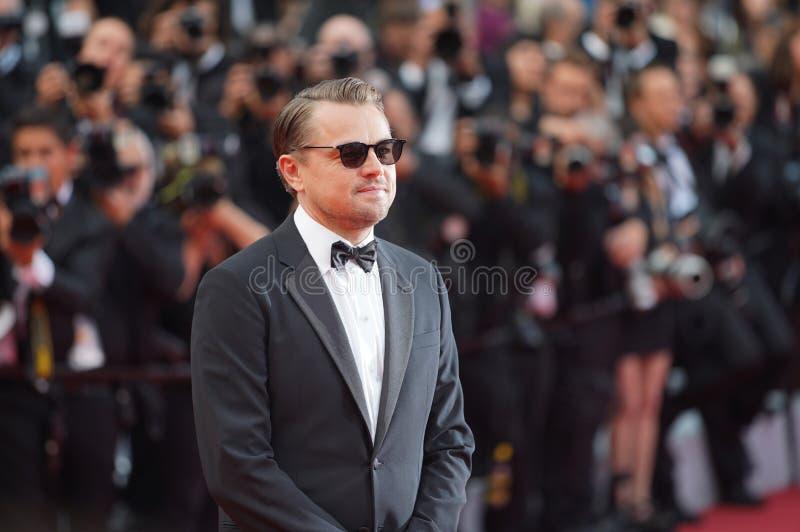 Leonardo DiCaprio assiste au criblage photographie stock libre de droits