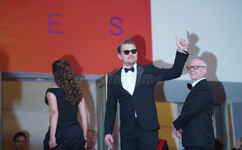Leonardo DiCaprio assiste au criblage photos libres de droits