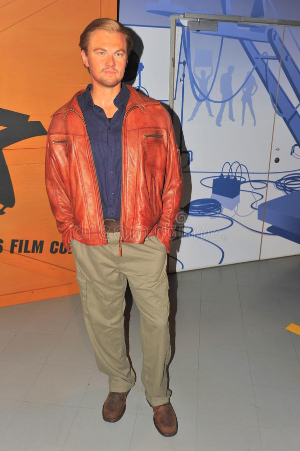 Leonardo DiCaprio bij Mevrouw Tussaud's royalty-vrije stock afbeeldingen