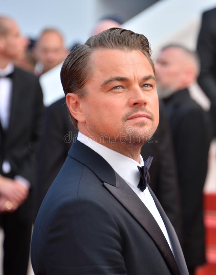 Leonardo DiCaprio. CANNES, FRANCE. May 21, 2019: Leonardo DiCaprio at the gala premiere for Once Upon a Time in Hollywood at the Festival de Cannes..Picture stock photography