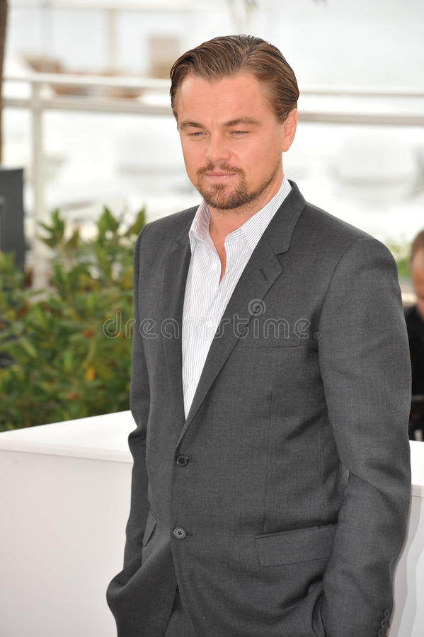 Leonardo DiCaprio. CANNES, FRANCE - MAY 15, 2013: Leonardo DiCaprio at the photocall for his movie The Great Gatsby at the 66th Festival de Cannes stock image