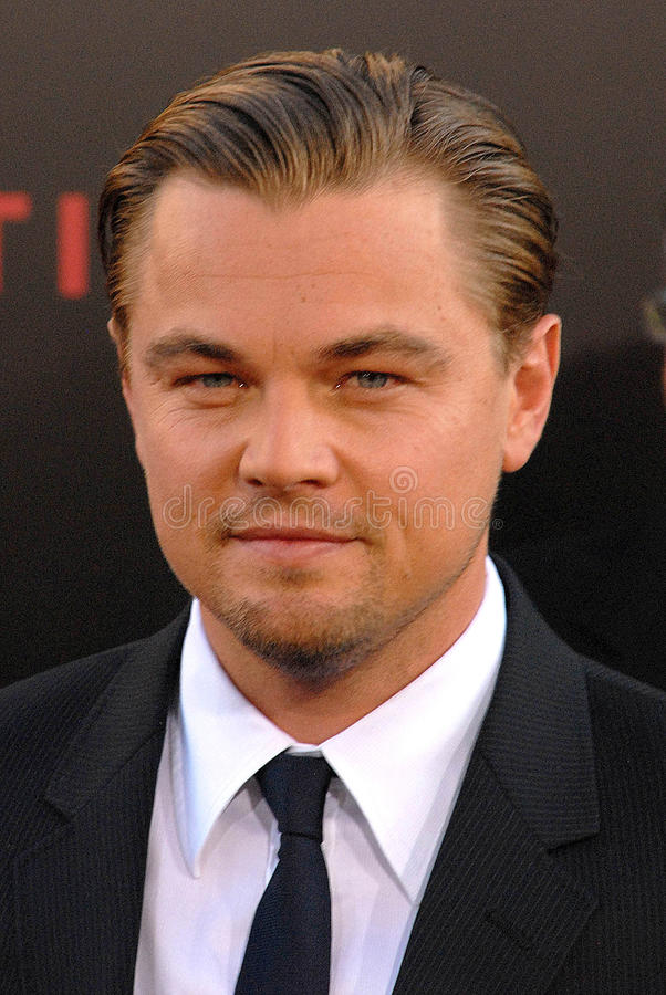 Leonardo DiCaprio an der ?Anfang-? Los- Angelespremiere, Chinee Theater, Hollywood, CA 07-13-10 lizenzfreies stockbild