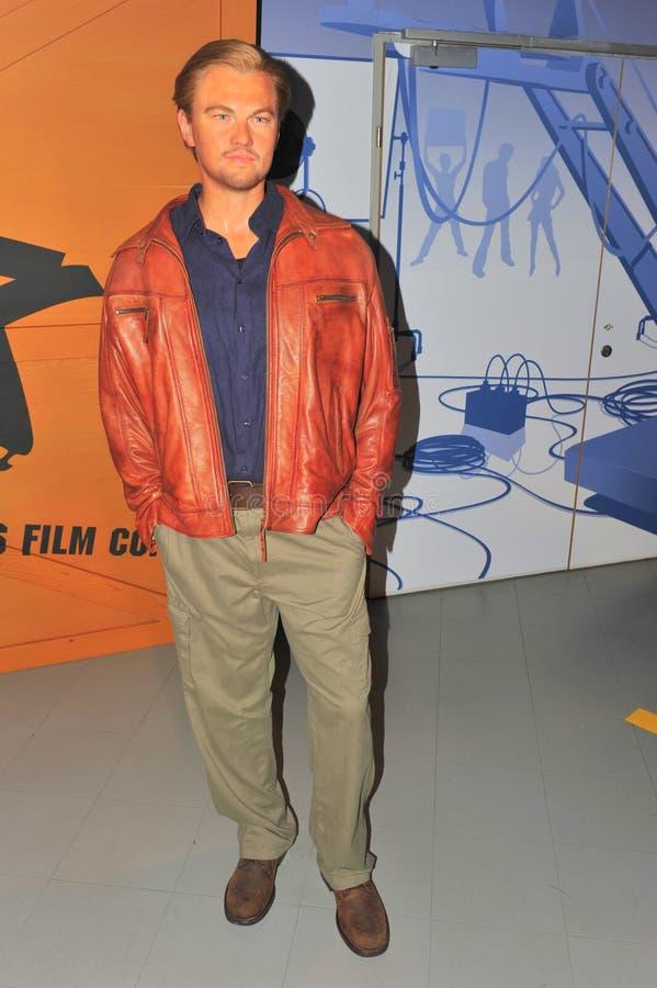 Leonardo DiCaprio en señora Tussaud imágenes de archivo libres de regalías
