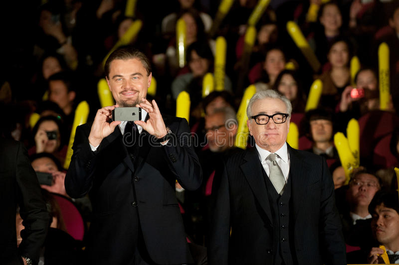 Leonardo DiCaprio et James Martin Scorsese photographie stock libre de droits