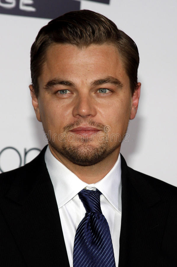 Leonardo DiCaprio. At the Los Angeles premiere of 'Revolutionary Road' held at the Mann Village Theater in Westwood on December 15, 2008 stock photography