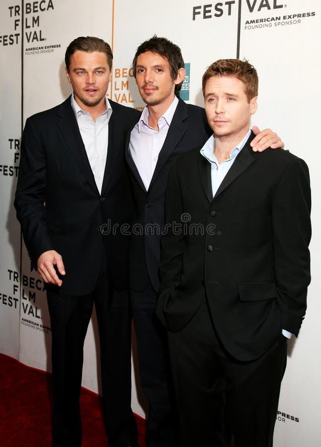 Leonardo DiCaprio, Lukas Haas, en Kevin Connolly royalty-vrije stock afbeelding