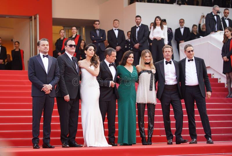 Leonardo DiCaprio, Margot Robbie, Daniela wyb?r, Quentin Tarantino obraz royalty free
