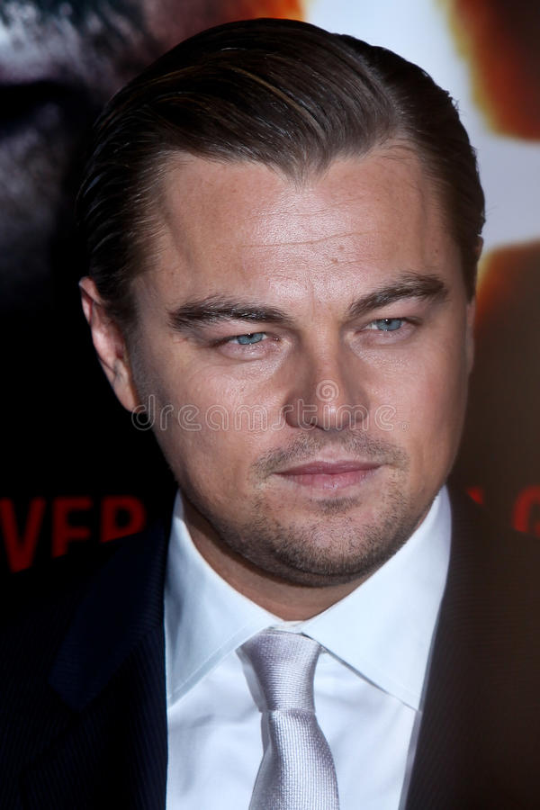 Leonardo DiCaprio. NEW YORK - FEBRUARY 17: Actor Leonardo DiCaprio attends the 'Shutter Island' premiere at the Ziegfeld Theatre on February 17, 2010 in New York royalty free stock image
