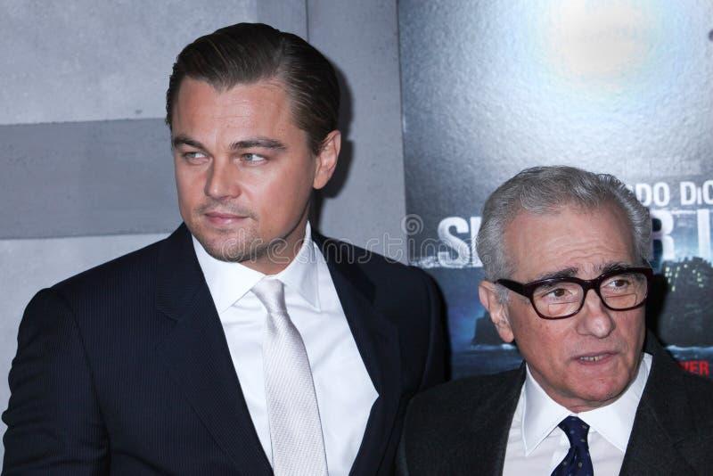 Leonardo DiCaprio och Martin Scorsese arkivfoton