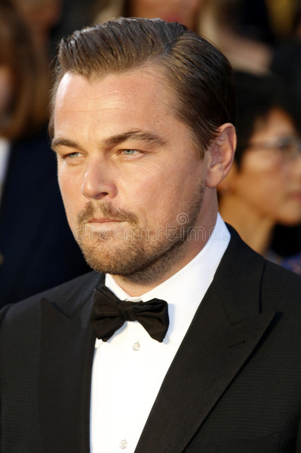 Leonardo DiCaprio. At the 88th Annual Academy Awards held at the Hollywood & Highland Center in Hollywood, USA on February 28, 2016 royalty free stock photography