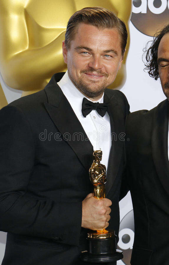 Leonardo DiCaprio. At the 88th Annual Academy Awards - Press Room held at the Loews Hollywood Hotel in Hollywood, USA on February 28, 2016 stock photos