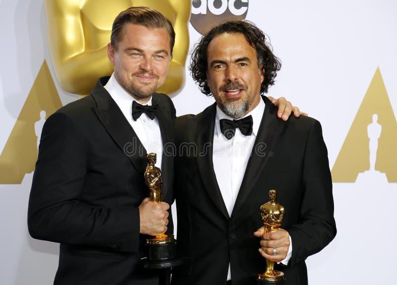 Leonardo DiCaprio und Alejandro Gonzalez Inarritu lizenzfreie stockfotografie