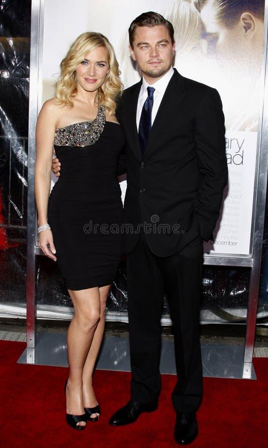 Leonardo DiCaprio und Kate Winslet lizenzfreie stockfotos