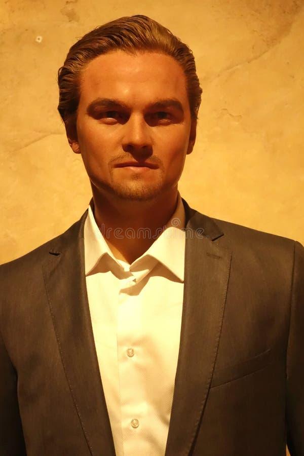 Leonardo DiCaprio Wax Figure arkivbilder