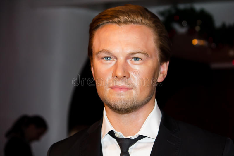 Leonardo DiCaprio. Wax figure, Madame Tussaud's Museum, London royalty free stock photos