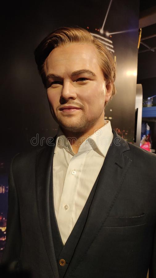 Leonardo DiCaprio wax figure at madame tussauds museum singapore. 