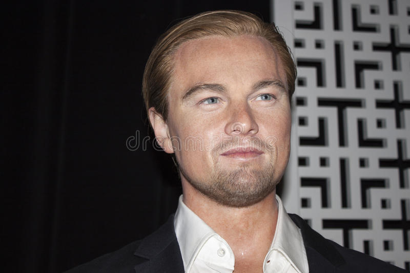Leonardo DiCaprio. Wax statue of Leonardo DiCaprio at the Madame Tussauds museum in Las Vegas, NV stock image