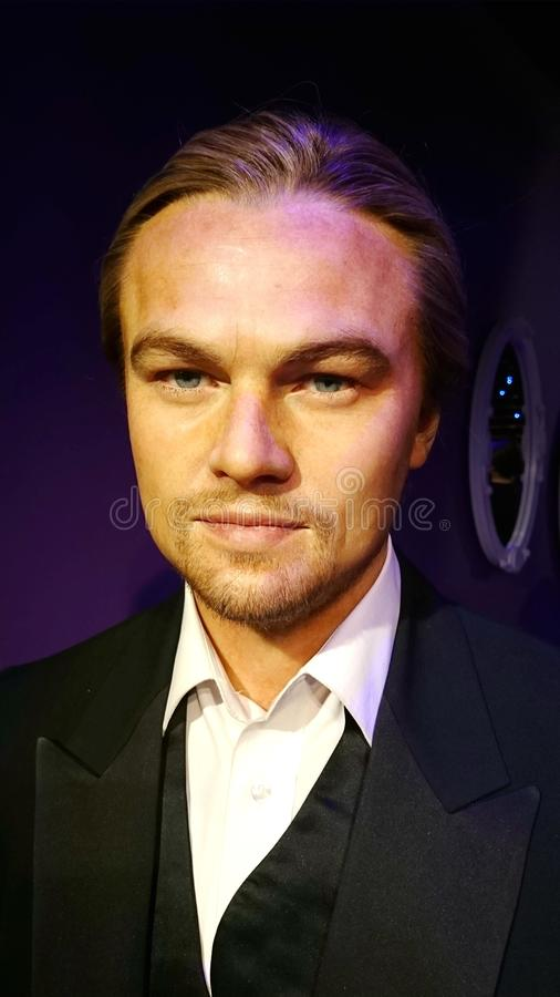 Leonardo DiCaprio. Wax statue of Leonardo DiCaprio. Wax figure in Madame Tussauds Sydney, Australia stock photo