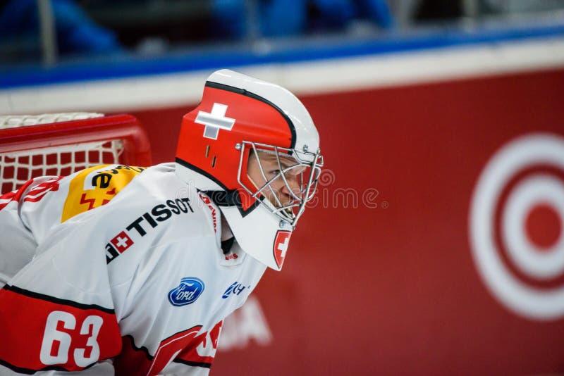 Leonardo Genoni, национальная команда Швейцария стоковое изображение rf