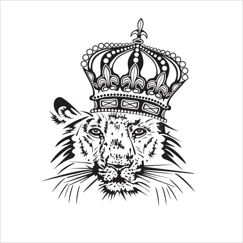 Leone. illustrazione di stock