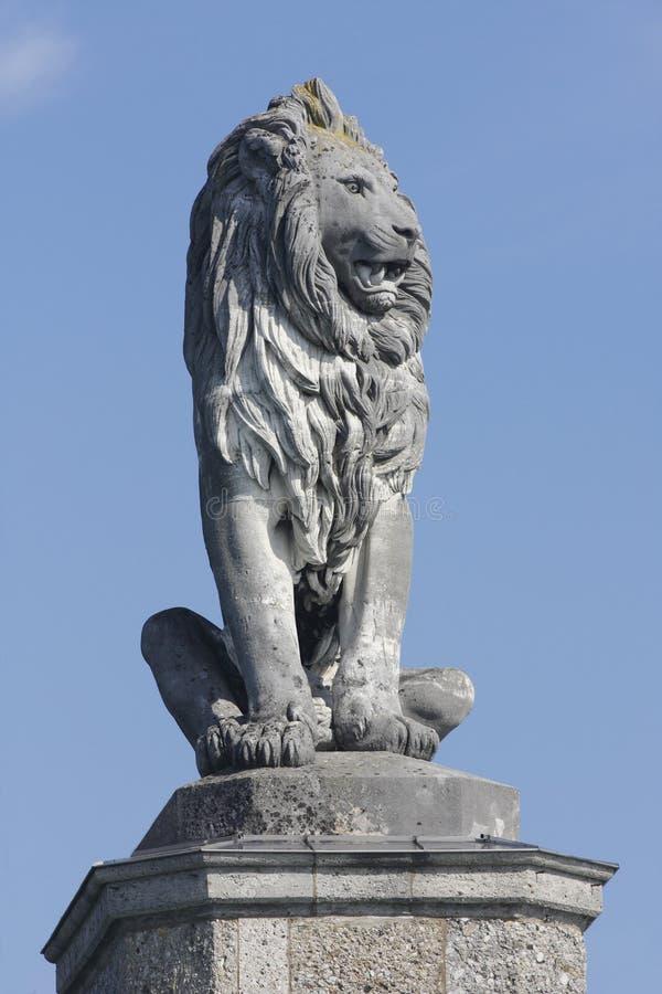 Leone di pietra, porto #2 di Lindau fotografia stock