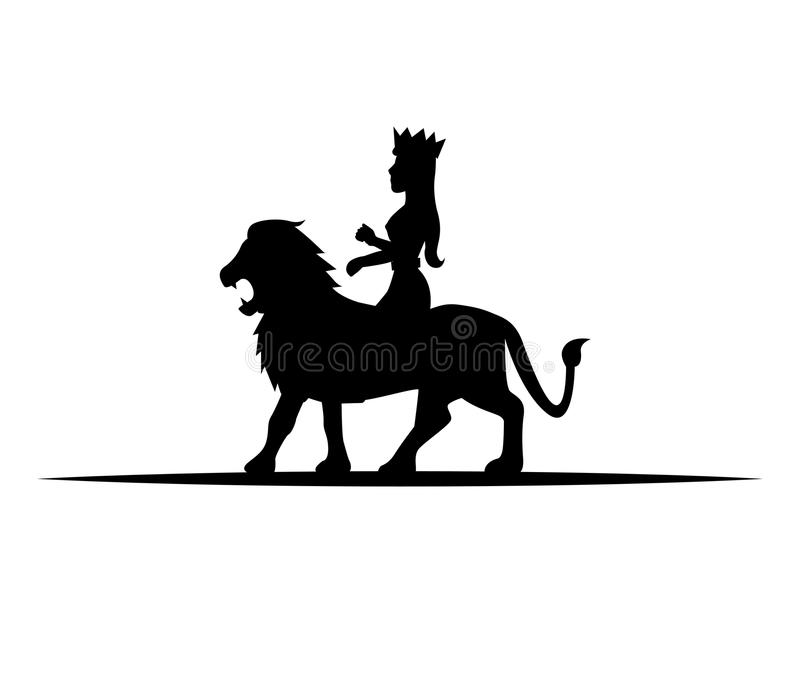 Leone e regina illustrazione di stock