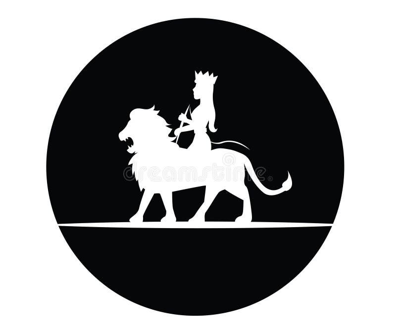 Leone e regina royalty illustrazione gratis