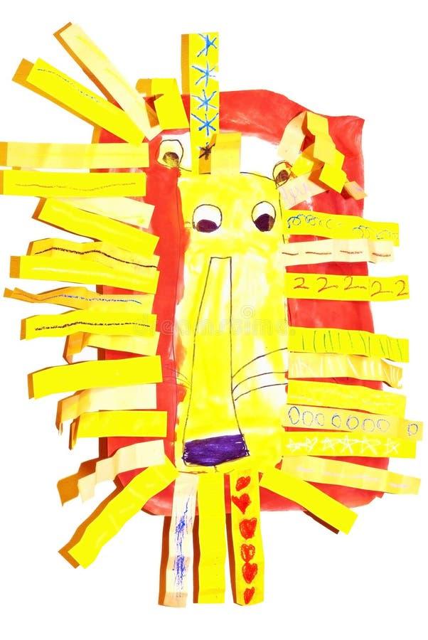 Leone/illustrazione del bambino illustrazione di stock