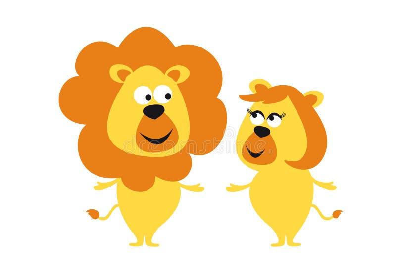 leones ilustración del vector